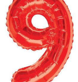 "34"" Red Jumbo Number 9 Balloon"