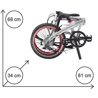 Dahon Mu D10 - Brushed Silver