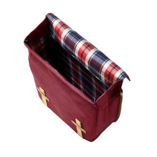 Basil Portland Double Bag - Dark Red