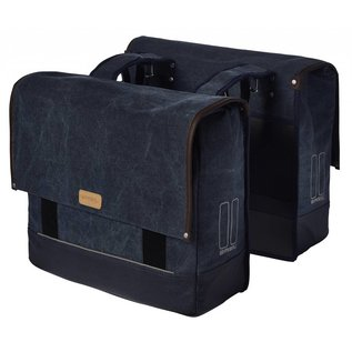 Basil Urban Fold Double Bag - Deep Denim Blue