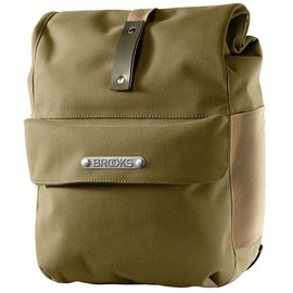 Brooks Norfolk Front Travel Pannier W Roll Top - Green/Olive