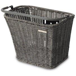 Basil Basimply li Rattan, Front Basket - Nature Grey