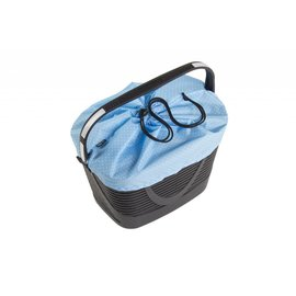 Tern Tern Hold'Em Front Basket - Black/Blue Polka