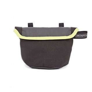Brompton Saddle Pouch - Grey / Lime Green