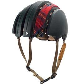 Brooks JB Special Carrera Foldable Helmet - Green / Red Tartan