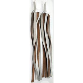 CKC Leather Streamers  - White / Brown