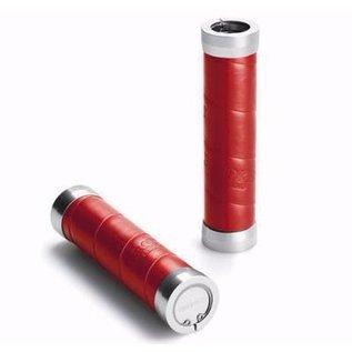 Brooks Brooks Slender Grips - Leather Wrap - Red