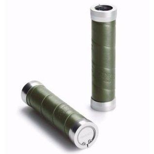 Brooks Slender - Leather Wrap - Olive Green