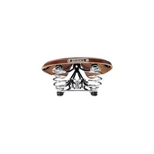Brooks B66 Antique Brown/Chrome B.66