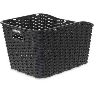 Basil Weave WP Rear Basket - Black