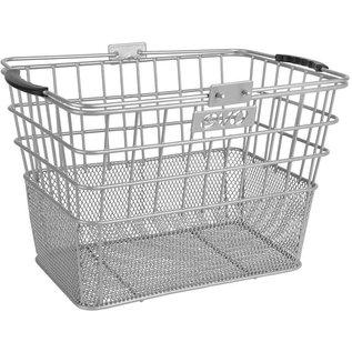 Evo E-Cargo Lift Off Dual Mesh Front Basket - Silver