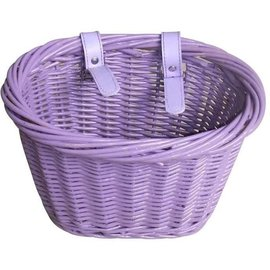 Evo E-Cargo Wicker Kids Basket - Purple