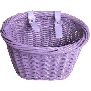 Evo E-Cargo Wicker Kids Basket - Purple