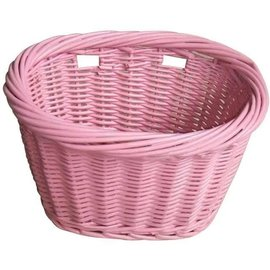 Evo E-Cargo Wicker Kids Basket - Pink