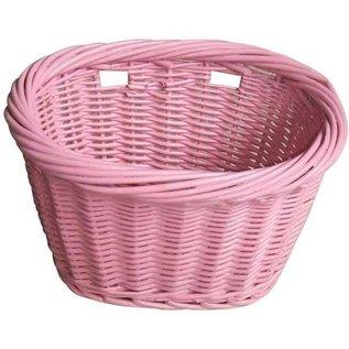 Evo E-Cargo Wicker Kids Basket - Pink