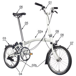 Brompton Steel Frame and Extremities - Standard Finish