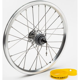 Brompton 3spd Wide Range Rear Wheel - Silver