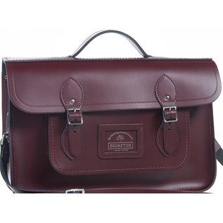 Brompton Cambridge Satchel Bag - Oxblood Red