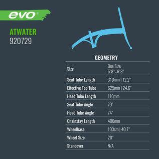 Evo Atwater Folding City eBike, Pro-Movec - Beaming Blue
