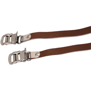 Evo Classic Leather toe-clips straps - Brown