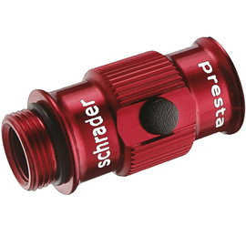 Lezyne ABS Flip-Thread Chuck Pump Head HV - Red