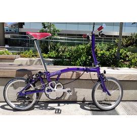 Brompton 2019 Brompton S2E - Purple Metallic - Brooks Ltd