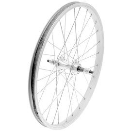 """Dahon Rear Wheel - 20"""", Single Wall, Freewheel Fit - Silver"""