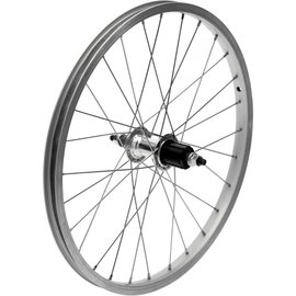 "Dahon Rear Wheel - 20"", Single Wall, Freehub - Silver"