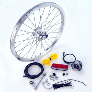 Brompton Brompton Dynamo Hub Set - Front Wheel and Lights - Silver