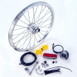 Brompton Dynamo Hub Set - Front Wheel and Lights - Silver