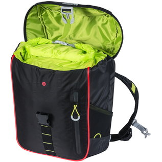Basil Basil, Miles, Backpack, 17L, Black/Lime