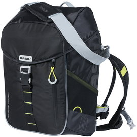 Basil Miles Backpack - Nordlicht - Black/Lime