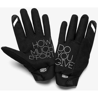100% 100% Brisker Cold Weather Youth Glove - Black -