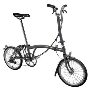 Brompton 2020 Brompton H6L - Extended SP - Saddle wide - Metallic Graphite