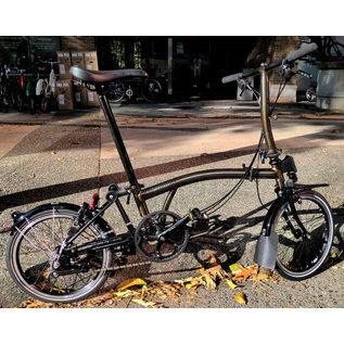 Brompton 2020 Brompton S6L - Black Edition Raw Lacquer / Titanium