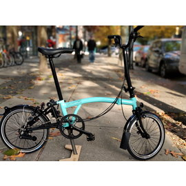 Brompton 2020 Brompton H6L - Black Edition / Turkish Green