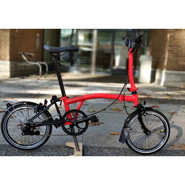 Brompton 2020 Black Edition Titanium M2L - Rocket Red