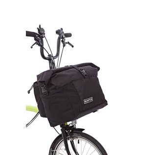 Brompton T-Bag, roll top, removable strap & rain-cover