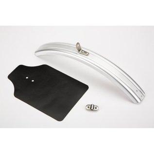 Brompton Front Mudguard Blade, inc flap - Silver