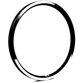 "Brompton 16 x 1 3/8"" wheel rim (ETRTO 349), 28H - Angle Drilled - Black"
