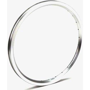 """Brompton Brompton 16 x 1 3/8"""" wheel rim (ETRTO 349), 28H - Angle Drilled - Silver"""