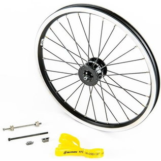 Brompton Front wheel - Dynamo Hub set, incl. fittings, front - (SV8) - Black