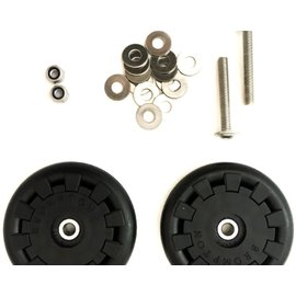 Brompton Eazy Wheel rollers with fittings - 5mm holes (Pair)