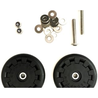 Brompton Brompton  Eazy Wheel rollers with fittings - 5mm holes (Pair)