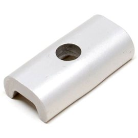 Brompton Hinge clamp plate only - Silver