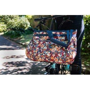 Brompton Brompton - Borough Basket Bag  w/ Frame - Liberty Print - L