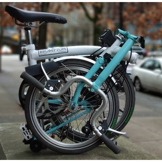 Brompton 2011 Brompton M2L - Extended SP - White/Turquoise