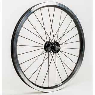 Brompton Brompton Front wheel Standard - Black Edition, radial lacing, inc fixings
