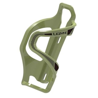 Lezyne Lezyne Flow Side Load Bottle Cage - Left loading, Army Green
