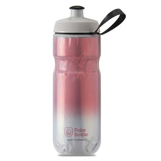 Polar Bottle Polar Sport Insulated Water Bottle, 591ml / 20oz, Red/Silver
